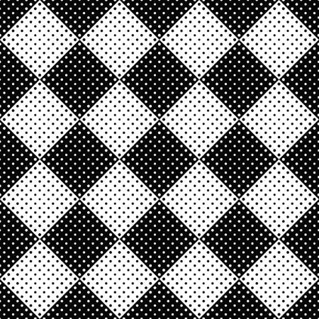 Abstract geometrical black and white circle pattern background design - monochrome vector illustration from circles