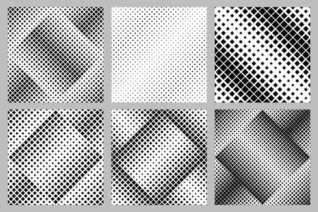 Seamless abstract geometrical square pattern background design collection - vector graphic