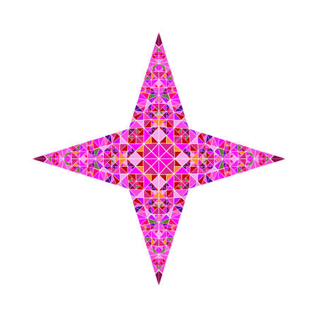 Polygonal isolated abstract tiled mosaic ornament star template Standard-Bild - 128940530