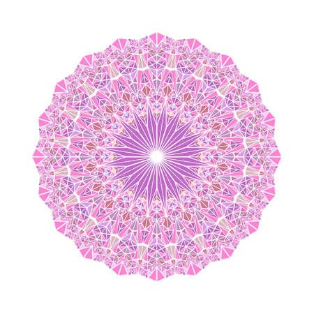 Abstract round geometrical mosaic triangle pattern mandala