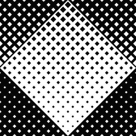Geometrical monochrome square pattern background - abstract vector design from diagonal squares 矢量图像