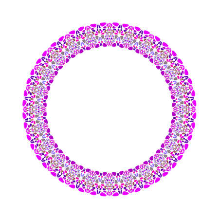 Geometrical gravel mosaic wreath - round abstract circular vector element Standard-Bild - 128941653