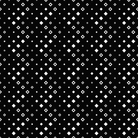 Seamless square pattern background - repeating geometrical monochrome vector illustration from diagonal squares 矢量图像