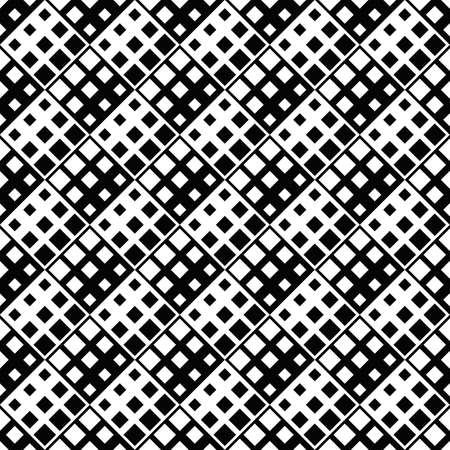 Black and white abstract geometrical square pattern background design