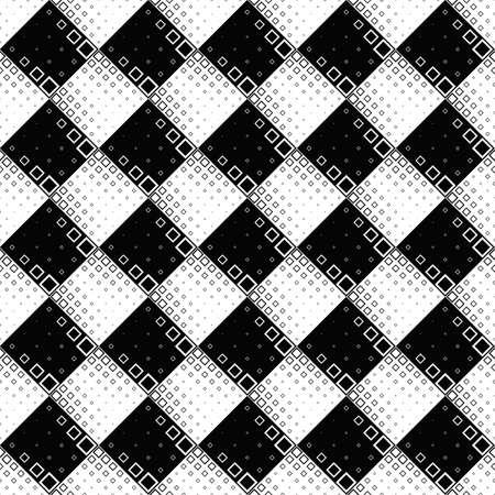 Monochrome square pattern background - abstract vector graphic design Ilustração