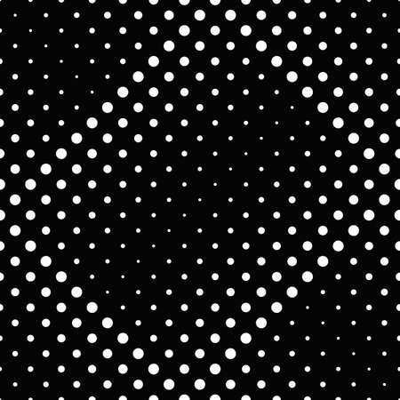 Seamless abstract monochrome circle pattern background design