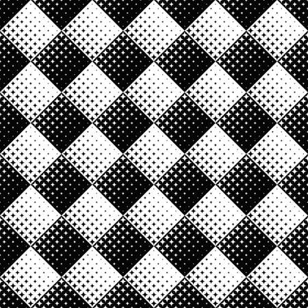 Abstract black and white geometrical curved star pattern background
