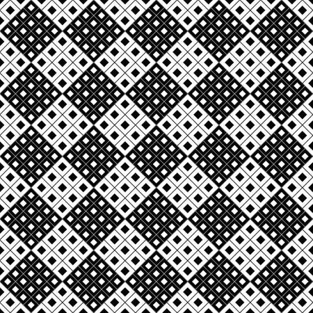 Square pattern background design - monochrome abstract vector graphic from diagonal squares