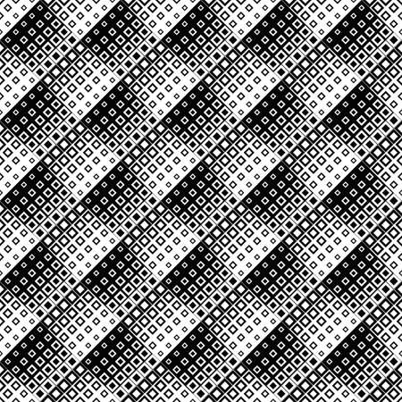 Geometrical abstract diagonal square pattern background - black and white vector graphic design from squares