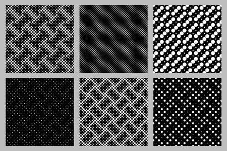 Seamless circle pattern background design set