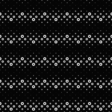 Black and white geometrical ring pattern background