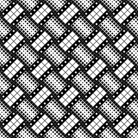 Geometrical abstract black and white square pattern background