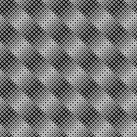 Abstract seamless square pattern background - monochrome vector design Ilustração