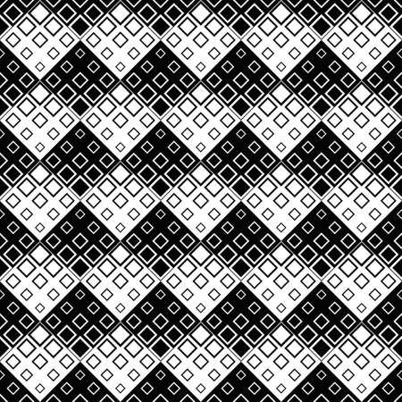 Abstract square pattern background - monochrome vector illustration Ilustração