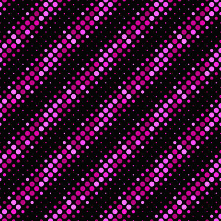 Seamless circle pattern background - deep pink vector graphic design