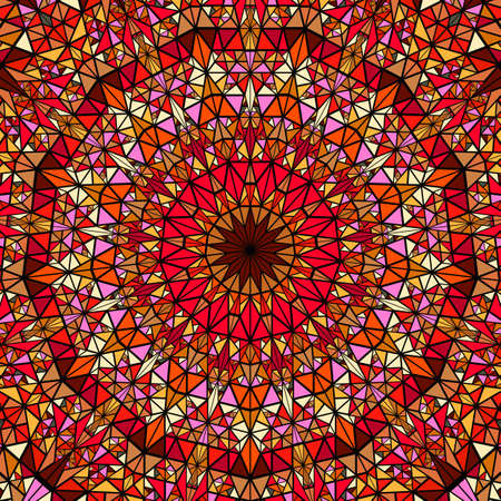 Colorful geometrical polygonal abstract round mosaic background
