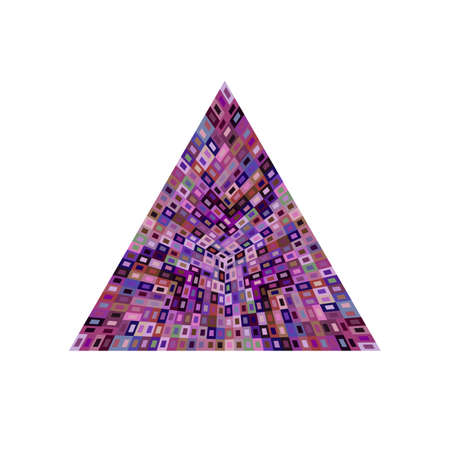 Geometrical abstract isolated mosaic triangle symbol template Ilustracja