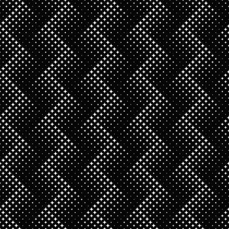 Geometrical abstract monochrome seamless star pattern background