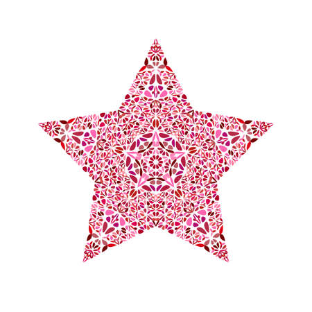 Abstract flower star polygon - colorful vector element