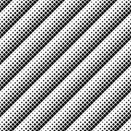 Square pattern background - monochrome abstract vector design Ilustração