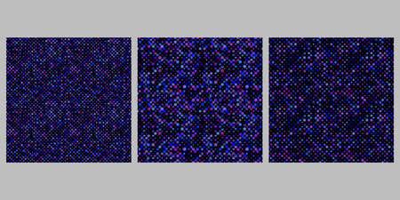 Geometrical dot pattern background set - abstract vector illustrations Ilustração