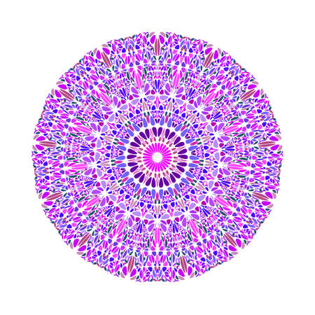 Geometrical circular round colorful abstract flower ornament mandala