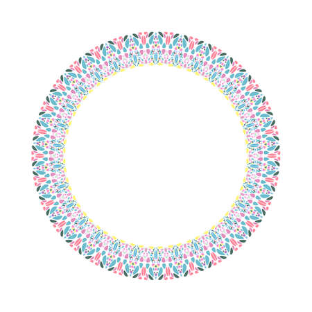 Mosaic wreath - round abstract circular vector design element