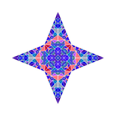 Polygonal abstract isolated geometrical colorful mosaic star symbol