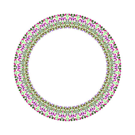 Geometrical floral frame - round abstract vector design element Banque d'images - 131230883