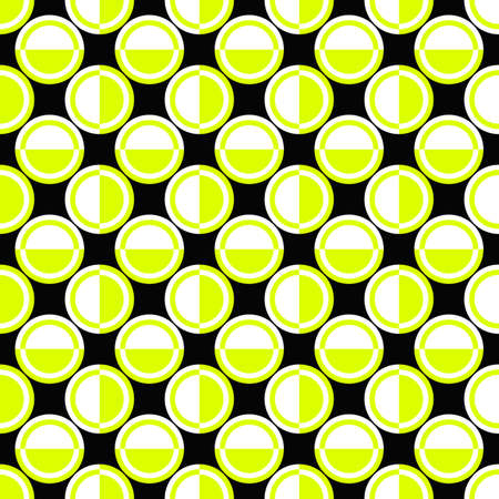 Seamless geometrical circle pattern background design - color vector illustration