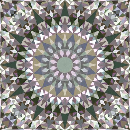 Triangle seamless abstract triangle mosaic kaleidoscope mandala pattern wallpaper