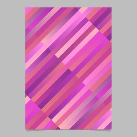 Geometrical modern diagonal rectangle poster design - abstract vector template illustration Иллюстрация