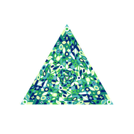 Geometrical abstract mosaic pyramid shape - colorful vector element