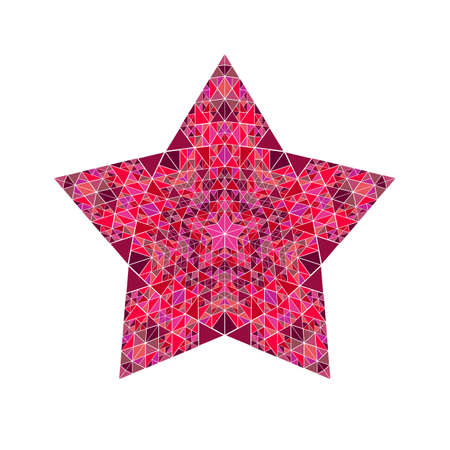 Abstract isolated tiled mosaic pentagram star logo template