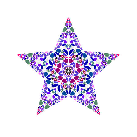 Colorful abstract geometrical isolated flower star symbol template Illusztráció
