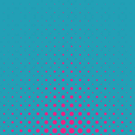 Color geometrical abstract halftone circle pattern background - vector template graphic from dots