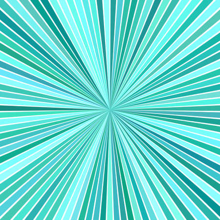 Turquoise psychedelic abstract starburst stripe background