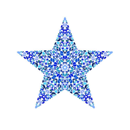 Isolated colorful gemstone ornament star symbol template