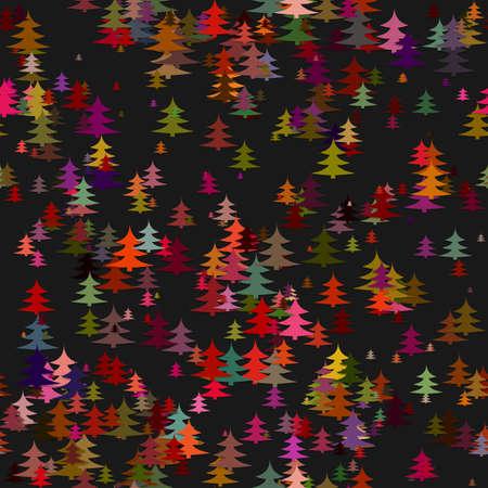Colored random pine tree background