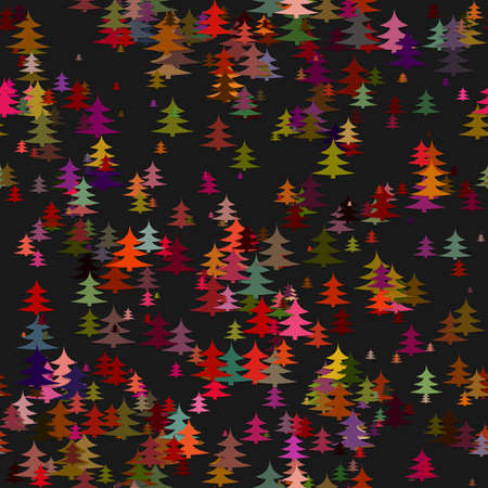Colored random pine tree background