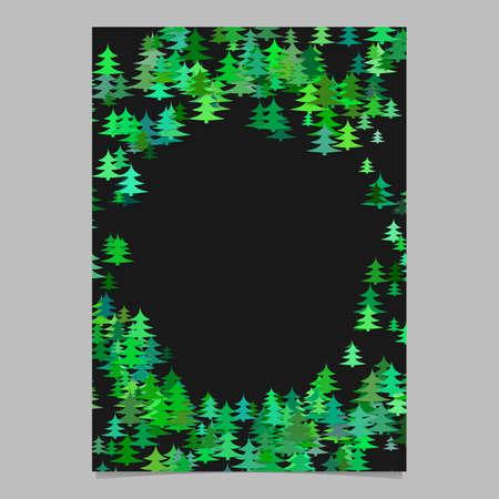 Green abstract random seasonal pine tree card template 向量圖像