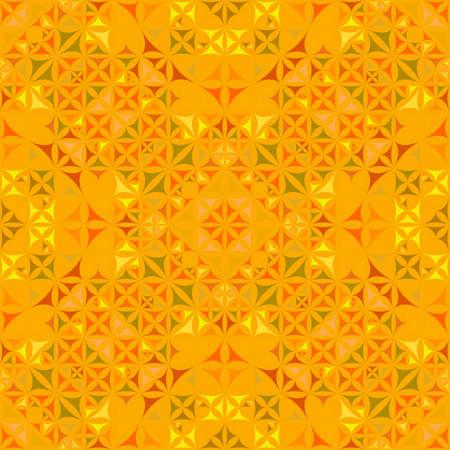 Orange seamless abstract curved triangle mosaic kaleidoscope wallpaper pattern