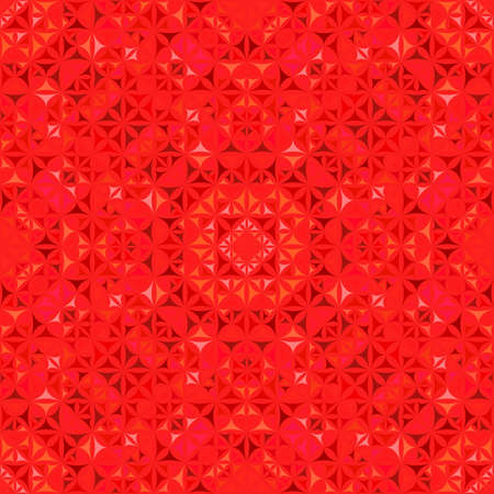 Red abstract repeating curved triangle mosaic kaleidoscope pattern wallpaper Ilustração