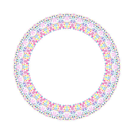 Abstract floral border - round vector design element