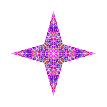 Isolated geometrical polygonal mosaic star symbol template