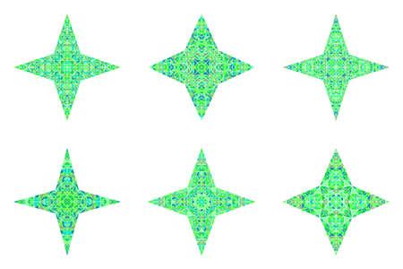 Geometrical polygonal triangle ornament star logo template set 일러스트