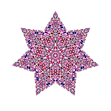 Colorful abstract geometrical floral ornament star symbol template
