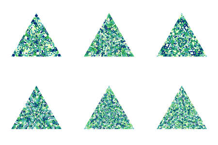Geometrical abstract mosaic triangle symbol template set Ilustrace