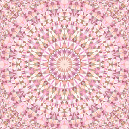 Pink repeating kaleidoscope pattern background  イラスト・ベクター素材