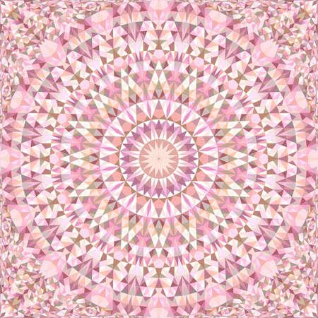 Pink repeating kaleidoscope pattern background Ilustrace